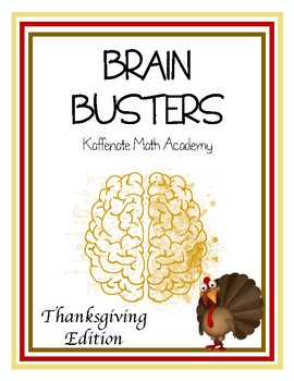 Kaffenate BRAIN BUSTERS--Thanksgiving Edition