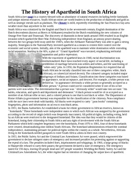 Kaffir Boy Apartheid Assignment - Argument appeals and rhetoric