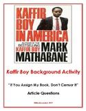 Kaffir Boy - Censorship Article Activity