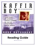 Kaffir Boy - Reading Guide