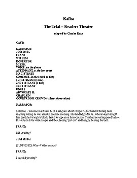 Kafka - The Trial - Readers Theaters