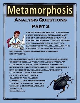 Kafka's Metamorphosis Part 2 Analysis Questions