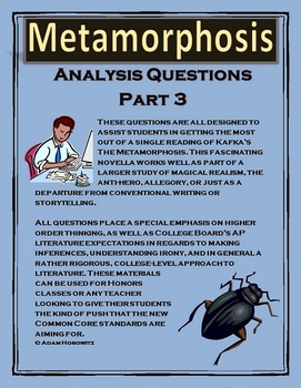 Kafka's Metamorphosis Part 3 Analysis Questions