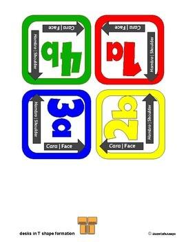 Kagan Cooperative Learning Desk Labels - BILINGUAL