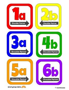 Cooperative Learning Desk Labels Pack