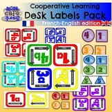 Cooperative Learning Desk Labels Pack BILINGUAL French English