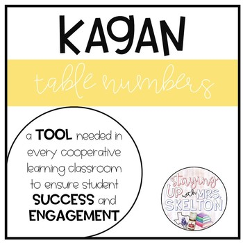 Kagan Cooperative Table Numbers