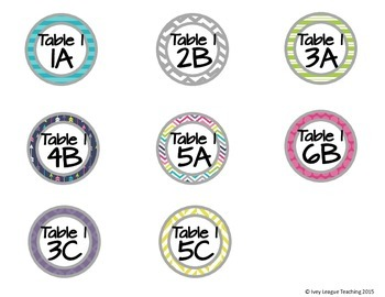 Kagan Desk Labels - Stripes, Chevron, Arrows