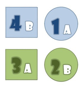 Kagan Desk Labels for Horseshoe/T-shape Formation FREE