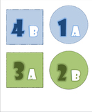 EDITABLE Cooperative Learning Desk Labels for Horseshoe T shape Formation