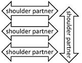 Kagan Desk Tags, Face Partner, Shoulder Partner, Desk Numb