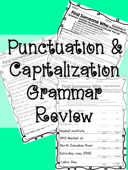 Kagan - Find Someone Who: Capitalization & Punctuation Gra