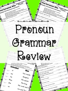 Find Someone Who: Pronoun Grammar Review