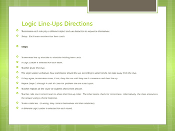 Kagan Logic Line Up- Division/ Multiplication