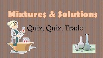 Kagan Mixtures and Solutions Quiz Quiz Trade