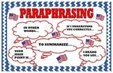 Kagan Paraphrasing Poster :  Civics Theme