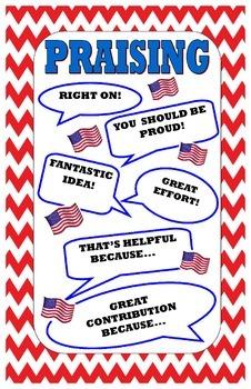 Kagan Praising Poster:  Civics Theme