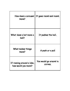 Kagan Quiz Quiz Trade Game Cards for Matter and Movement Science Unit