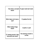 Kagan Quiz Quiz Trade Game Cards for Matter and Movement S