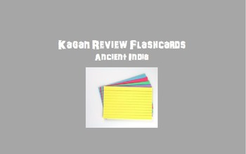 Kagan Review Flashcards – Ancient India
