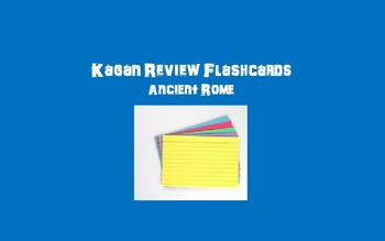 Kagan Review Flashcards – Ancient Rome/Beginning of Christianity