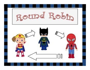 Kagan Round Robin Superheroes Visual Aid