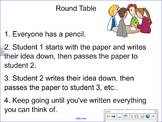 Kagan Round Table Smartboard