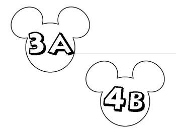 Mickey Mouse Kagan Seat Labels