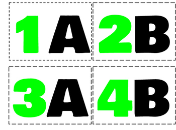 Kagan Seating Labels- green and black