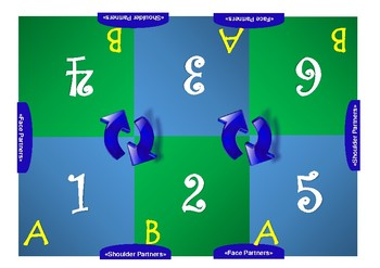 Kagan- Style Cooperative Learning Mat- 6 Student