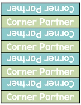 Table Labels for Partners & Groups