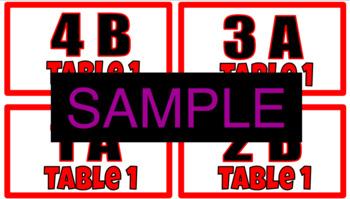 Kagan Table Number Labels