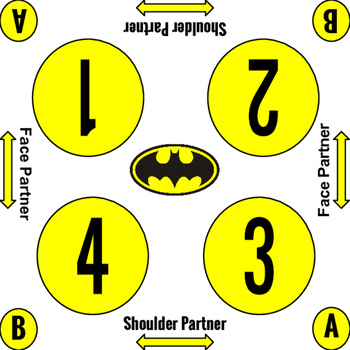 Kagan Team Mat - Batman Square