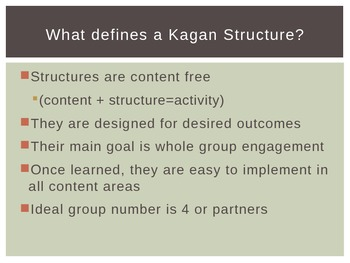 Kagan/Marzano Informational Powerpoint