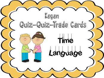 Kagans Quiz Quiz Trade Cards- Time Language