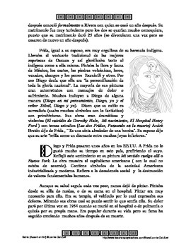 Kahlo - Accent on Art, Spanish Art Packets for the Spanish Classroom