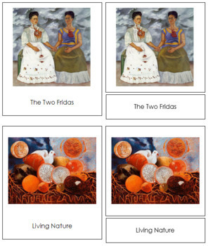 Kahlo (Frida) 3-Part Art Cards