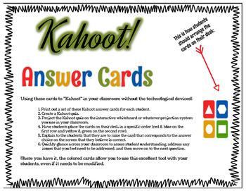 Kahoot! Answer Cards