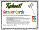 Kahoot! Answer Cards