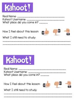 Kahoot Exit Ticket