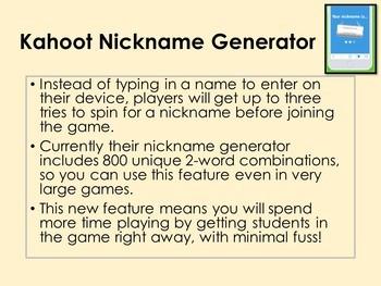 kahoot name generator new feature no more naughty nicknames