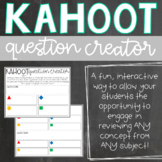 Kahoot Question Creator for Students