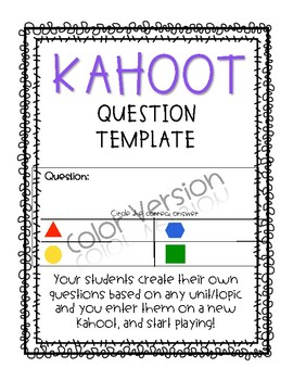 Kahoot Question Planner for Students