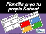 Kahoot Templates and answer sheet in Spanish!