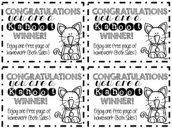 Kahoot Winner Homework Pass