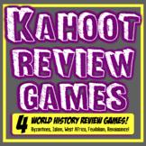 Kahoot World History Review Games! 4 Games Feudalism, Renaissance, Islam, More!