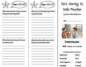 Kai's Journey to Gold Mountain Trifold - Storytown 4th Grade Unit 1 Week 4