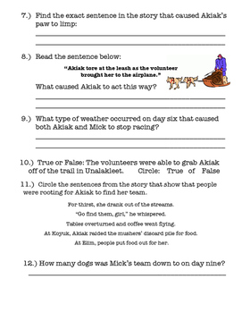 Akiak: A Tale from the Iditarod - Vocabulary, Comprehension, and More