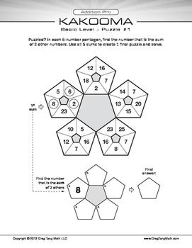 Kakooma Addition Pro Worksh... by Greg Tang Math   Teachers Pay ...