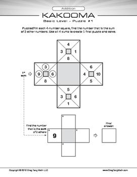 Kakooma Addition Worksheets Basic 4x4